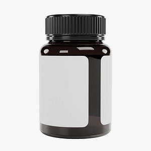 3D Pill Bottle 4