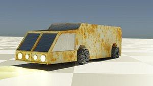 Ruggedized Snow Vehicle Van  .OBJ .BLEND .DAE .FBX .GLB .STL .X3D .BLEND 3D model