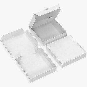 pizza boxes white paper model