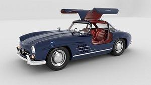 mercedes 300 sl amg 3D model