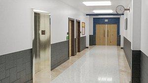 3D School Coorridor