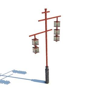 Traditional Japanese Lamp 3D model