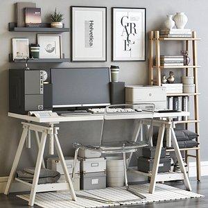 3D IKEA office workplace 66