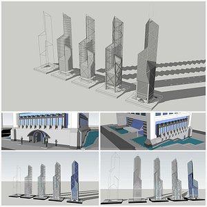 3D bank china model
