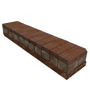 wood wooden boards 3D model
