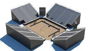 3D model arena volley beach