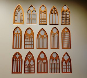 Gothic Windows Collections 3D
