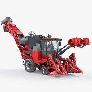 3D Cane Sugar Harvester Austoft 8010 model
