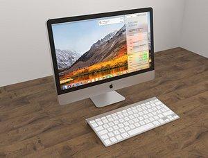 3D model mac computer keyboard