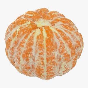 3D mandarin peeled model
