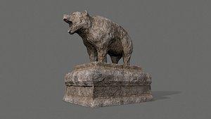 Bear Statue 4 3D model