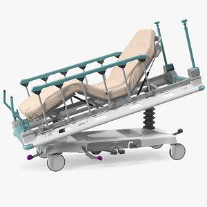 3D Emergency Stretcher Trolley