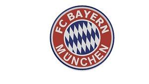 FC Bayern München Wall Logo 3D model