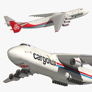 Antonov An225 Cargolux 3D model