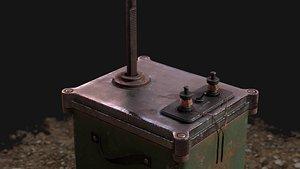 Dynamite Detonator Low-poly model 3D