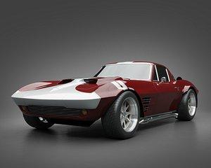 1965 GrandSport Corvette 3D model