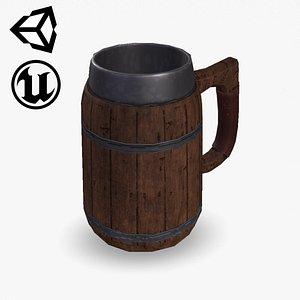 Fantasy Beer Mug 3D model