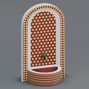 fountain moroccan tile model