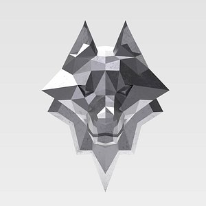 print wolf head model