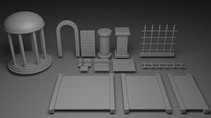 Simple Dungeon Set - 1 3D model