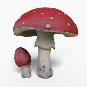 mushroom amanita model