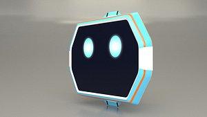 3D model Cute Robot Head