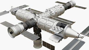 3D model Tiangong Space Station