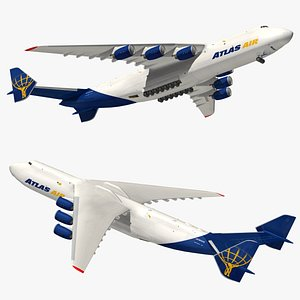 3D model Antonov An225 Atlas Air