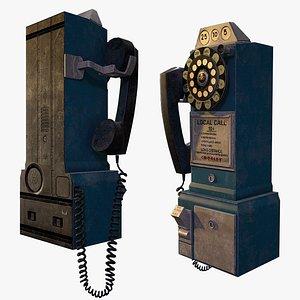 3D Retro payphone