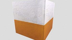 3D pbr old concrete