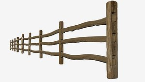stockade fence 3D model