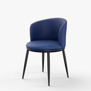 Eisner Guest Chair blue finish 3D model