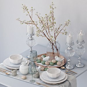 3D table setting tree branches