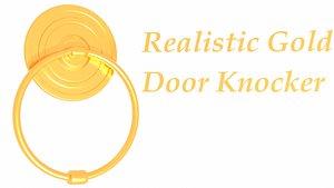3D realistic gold knocker