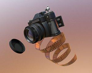 3D model Camera film camera digital camera SLR handheld camera travel film negative photography