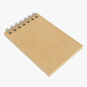 3D Notebook with spiral 02