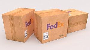 Fedex Cardboard Box model