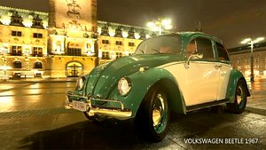 3D car beetle 1967 model