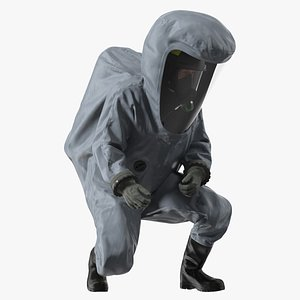 3D Fully Encapsulating Chemical Protection Suit Rigged for Cinema 4D model