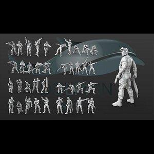 3D model printable set 38 soldier