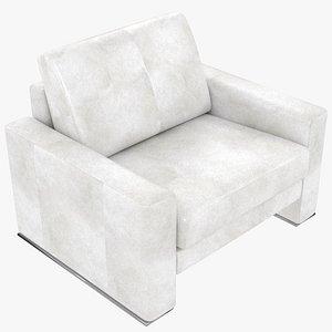3D modular leather white