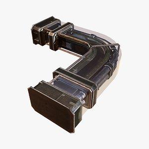 Pipes Frame C 3D model