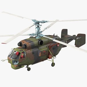 3D model Kamov HH32A South Korea Air Force Helicopter Rigged
