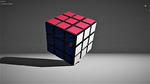 3D Rubik's Cube 3D with texture model