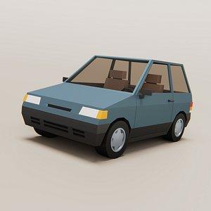 3D model Stylized Cartoon Car Free Free