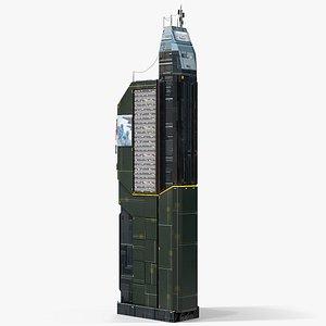 3D model Sci-Fi Futuristic Skyscraper PBR 06