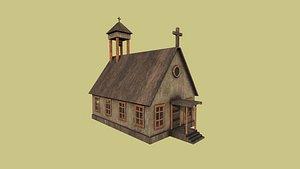 western church - old west 3D model