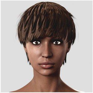 Naked Black Woman Fit 3D model