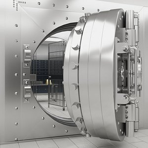 3D Bank Vault with Interior
