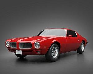 3D 1970 Pontiac Firebird